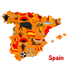 map of spain background design spanish vector image