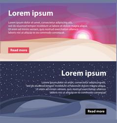 beautiful desert landscape horizontal banners vector image