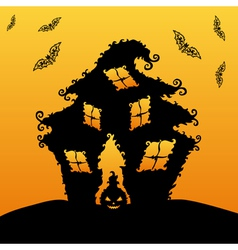 Decorative haunted house vector