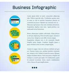Flat business infographic background vector