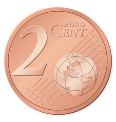 2 euro cent vector