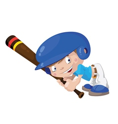 smile baseball boy vector image