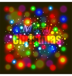 Merry Christmas on colorful background vector image