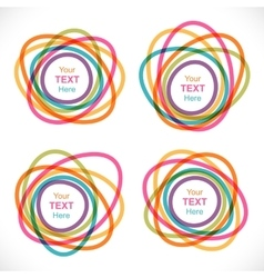 Set of colorful round abstract banners vector