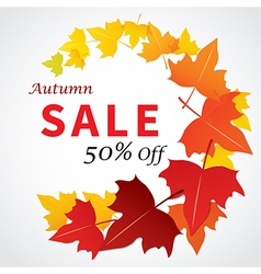 Autumn sale banner flat design vector