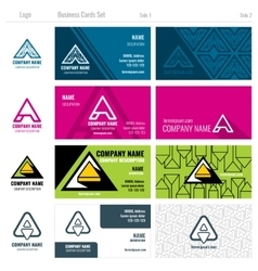 Creative business cards set with a logo vector