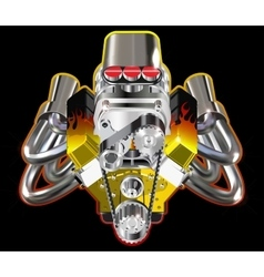 Hot rod engine vector