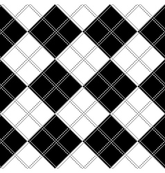 Black white chess board background vector