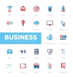 Business infographics flat design icons web vector