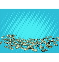 Money dollars background vector