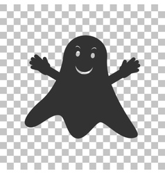 Ghost isolated sign dark gray icon on transparent vector