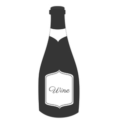 Wine glass bottle icon vector