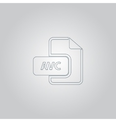 Avc file icon flat vector