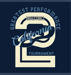Basketball california tournament vector