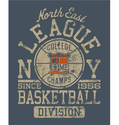 Basketball college league vector image vector image