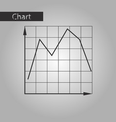 Black and white style icon falling graph vector