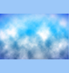 blue sky with clouds made using gradient mesh vector image vector image