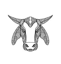 Brahma bull head mandala vector