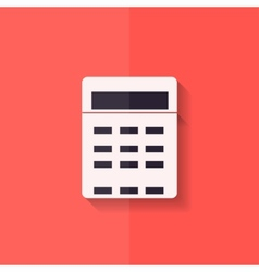 Calculator web icon Flat design vector image