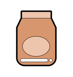 Cute jelly jar graphic design vector