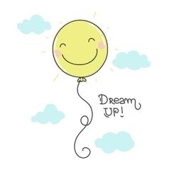 Cute smiling balloon vector