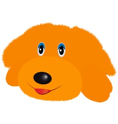 Doggy soft toy vector