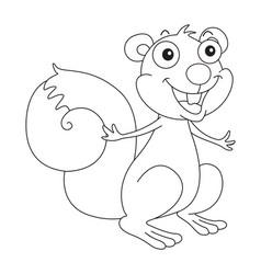 doodle animal for happy squirrel vector image vector image