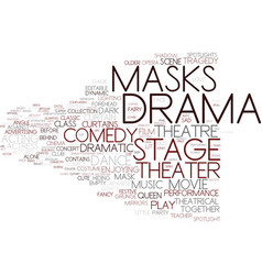 drama word cloud concept vector image
