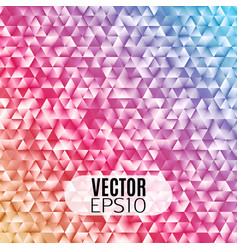 geometric gradient triangle mosaic background vector image vector image