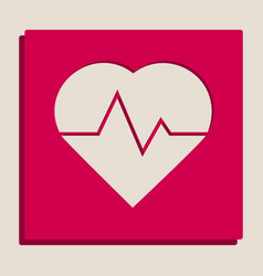 Heartbeat sign grayscale vector