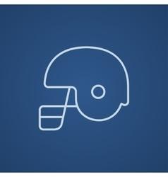 Hockey helmet line icon vector