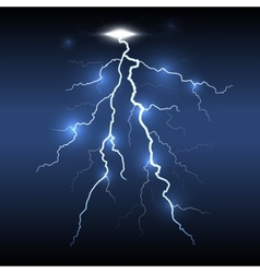 Lightning flash strike dark background vector