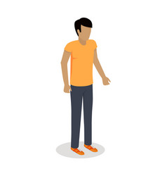 Man character icon in isometric projection vector