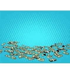 Money dollars background vector