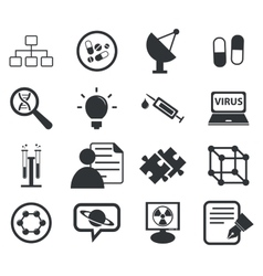 Science icon set 5 simple vector image