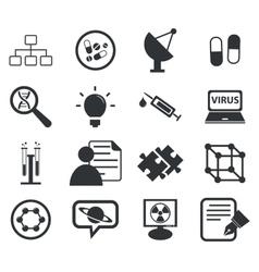 Science icon set 5 simple vector