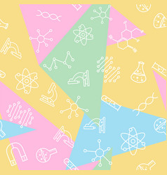 Science seamless pattern back to school print vector