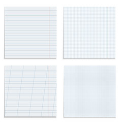 set of paper sheets vector image