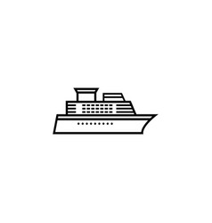 Ship and cruise line icon navigation vector