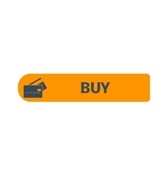 Shop button icon vector image