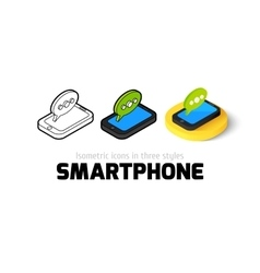 Smartphone icon in different style vector image
