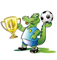 soccer-champion vector image