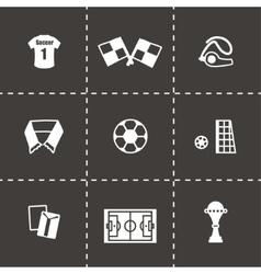 Soccer icon set vector