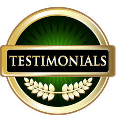 Testimonials gold icon vector