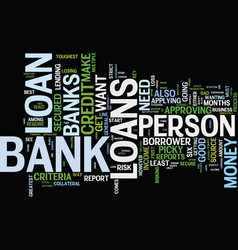 The key to bank loans text background word cloud vector