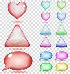 Transparent glass shapes vector image