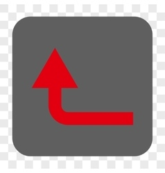 Turn forward rounded square button vector