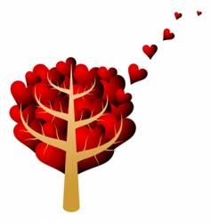 valentines tree vector image vector image