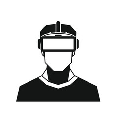 Virtual reality glasses in silhouette style vector