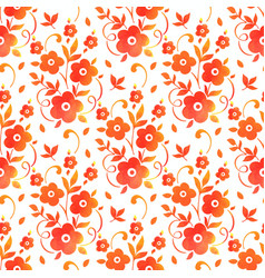 watercolor flower seamless pattern vector image vector image